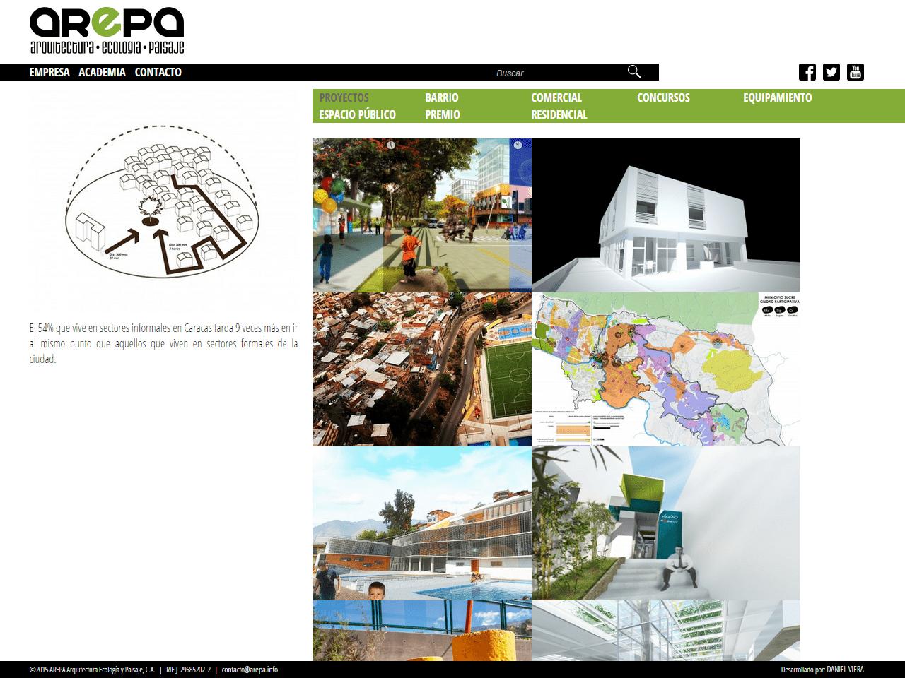 Arepa – Arquitectura, Ecología y Paisaje | Portafolio de la oficina de Arquitectura, Ecología y paisajismo. Sitio web responsive desarrollado para WordPress