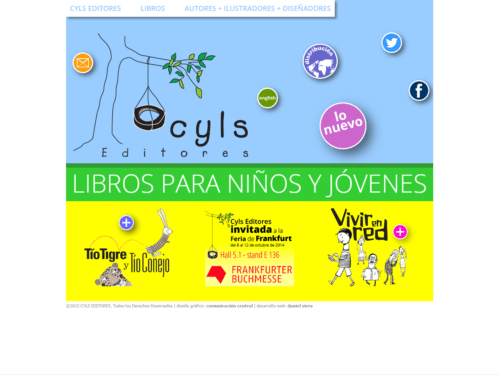 CYLS Editores | Independent publisher, dedicated to children's books. Responsive website developed for WordPress with two languages, designed by Comunicación Central