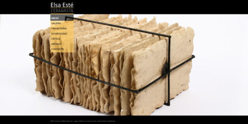 Elsa Este – Ceramista | Ceramist, responsive website developed for WordPress with bootstrap designed by Comunicación Central