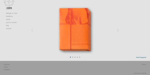 La cueva casa editorial | Publishing house specialized in photography books. Responsive website developed for WordPress with bootstrap and e-commerce through shoppify,
