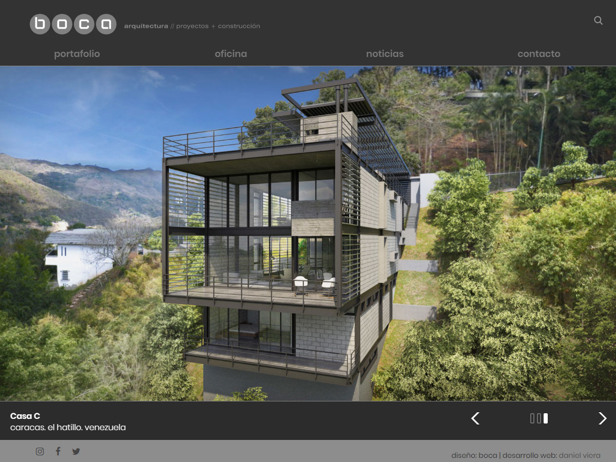 Boca | Architecture, projects and construction office portfolio. Developed for WordPress, with filters and bootstrap