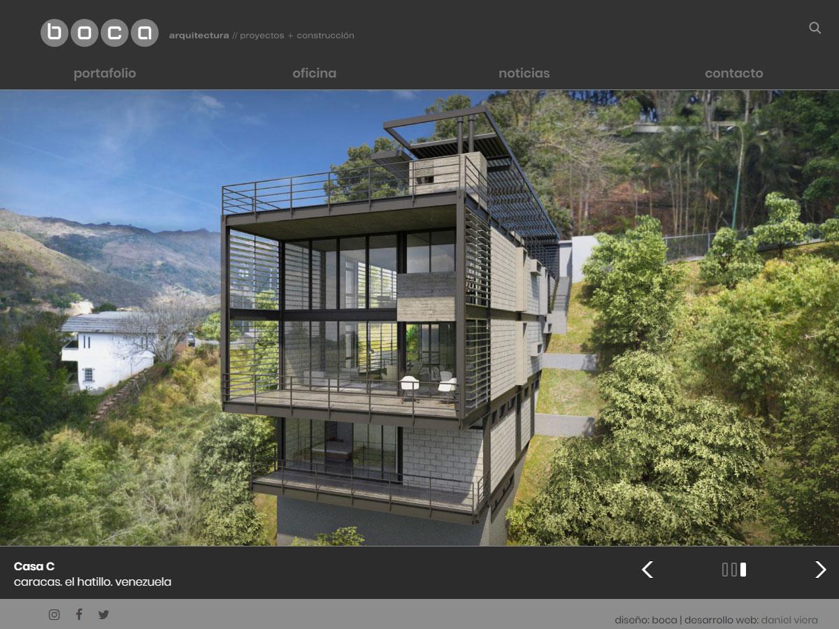 Boca | Portafolio de la oficina de Arquitectura, proyectos y construcción. Desarrollada para WordPress, con filtros y bootstrap