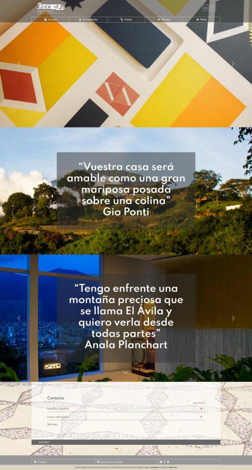 villaplanchart.net | Sitio web de la emblematíca obra de Gio Ponti en Caracas, El cerrito. Realizado en WordPress con bootstrap 4 y sass, Ecommerce. Responsive, con scroll infinito y mansory.