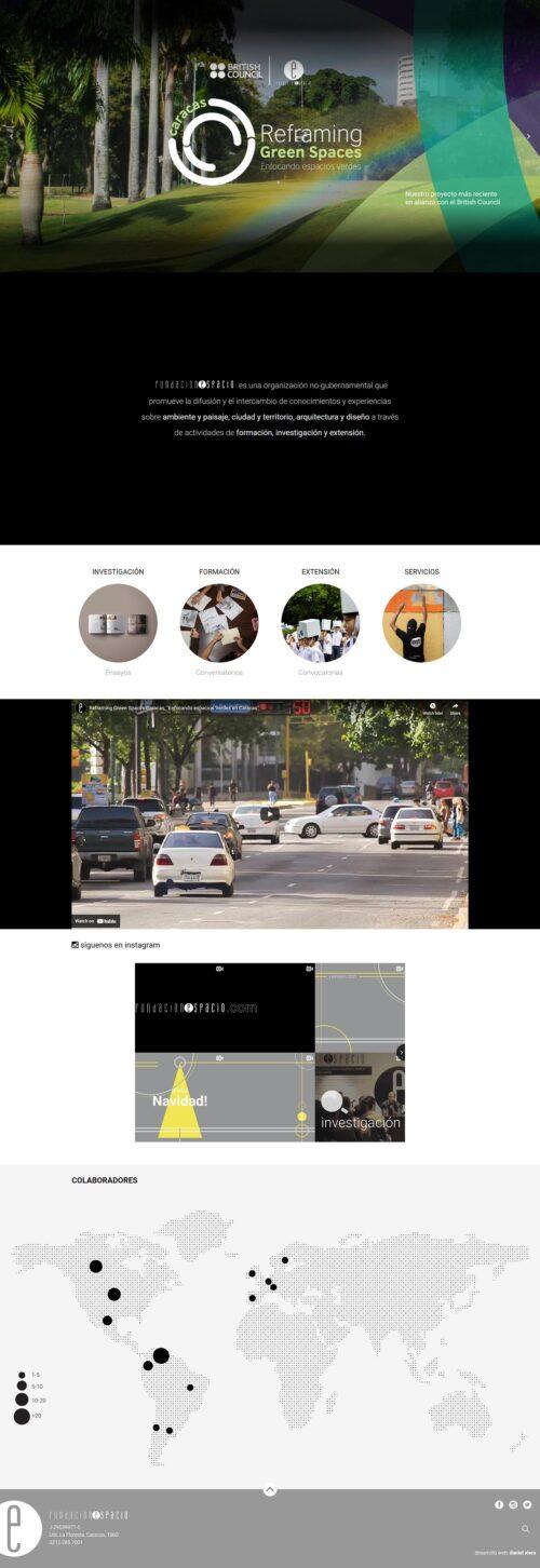 Fundación Espacio | Fundación espacio es una organización no-gubernamental que promueve la difusión y el intercambio de conocimientos y experiencias sobre <strong>ambiente y paisaje, ciudad y territorio, arquitectura y diseño</strong>. Sitio desarrollado sobre WordPress, bootstrap 4 y sass.